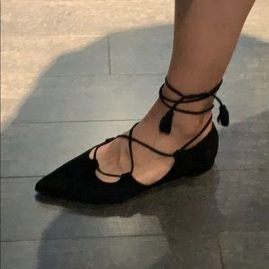 Browns Couture black suede flats